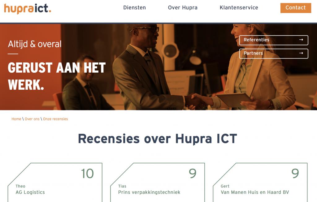 Hupra ICT reviews
