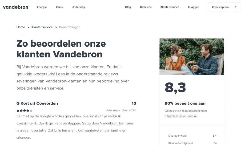 Vandebron reviews