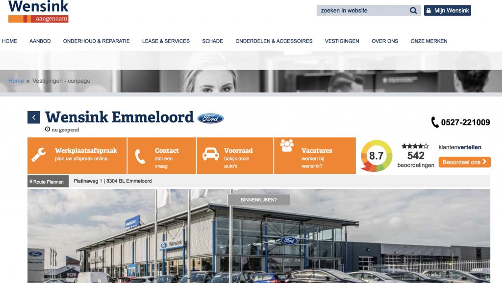 Wensink Ford Emmeloord reviews